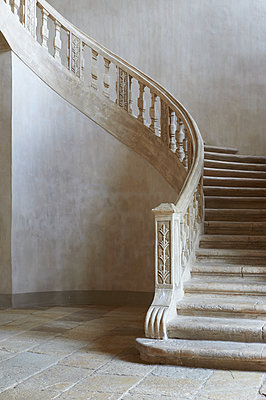 Vintage steps, winding staircase - p1629m2211357 by martinameier