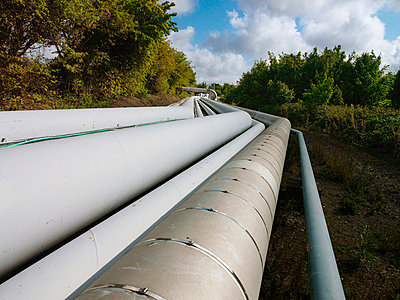 Pipeline system in rural landscape - p42917001 by Charlie Fawell