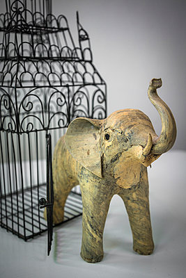 Elephant breaking out of cage - p1170m1044355 by Bjanka Kadic