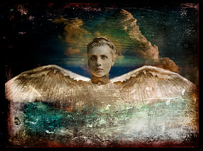 Swan Woman - p1693m2292904 by Fran Forman