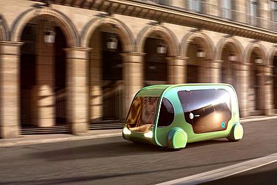 Autonomous driving, Electric vehicle - p1275m2135127 by cgimanufaktur