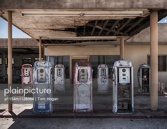 Abandoned Fuel Pumps - p1154m1138964 by Tom Hogan