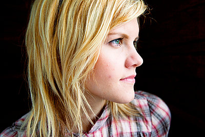Profile of a young woman - p4130626 by Tuomas Marttila