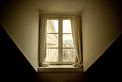 Window under a roof - p445m1153184 by Marie Docher