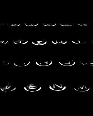 Typewriter - p1179m970522 by johannes pöttgens