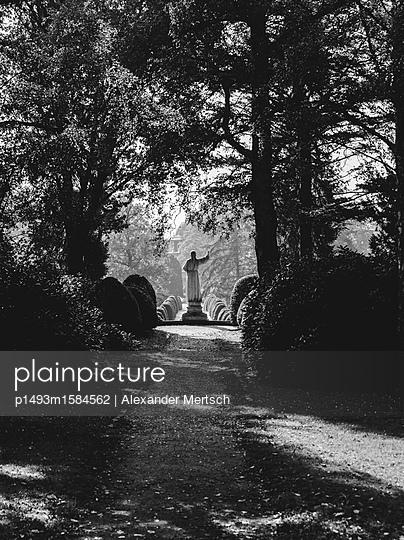 Friedhof Ohlsdorf an einem sonnigen Herbsttag, Hamburg - p1493m1584562 von Alexander Mertsch