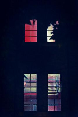 Illuminated windows at night - p1170m2142966 by Bjanka Kadic