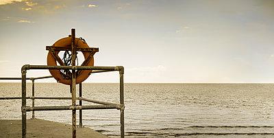 Orange buoy - p1228m1162607 by Benjamin Harte