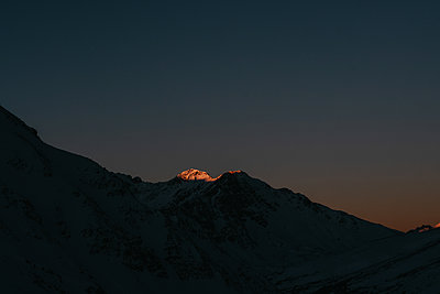 Sunset at the ski resort Marmot Basin in Jasper, Canada - p1455m2092360 by Ingmar Wein