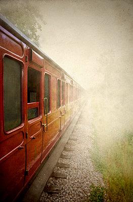 Smoky Train Carriage - p1072m1163355 by Brett Lilywhite