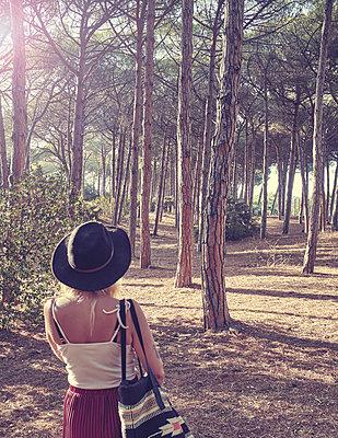 Woman in forest - p312m1533478 by Oscar Wettersten