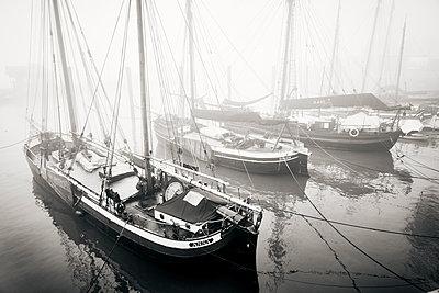 Germany, Museum harbour in Ovelgönne - p851m2186181 by Lohfink