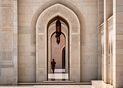 Archway of the Grand Mosque - p1154m2022470 by Tom Hogan