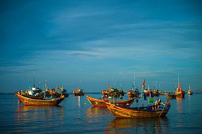 Fishing harbor in Mui Ne, Binh Thuan Province, Vietnam, Southeast Asia - p934m1177100 by Sebastien Loffler