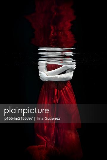 Underwater dancer - p1554m2158697 by Tina Gutierrez