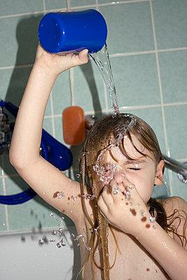 Girl with wet hair - p3790371 by Scheller