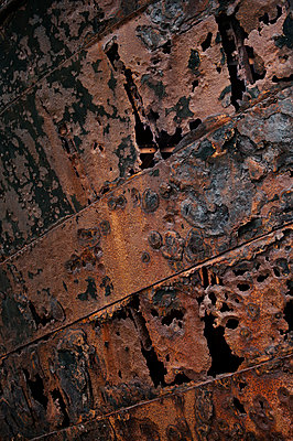 Rusty ship close-up - p470m1190629 by Ingrid Michel