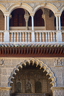 Architecture of the Alhambra in Spain - p1146m2150549 by Stephanie Uhlenbrock