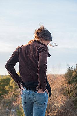 Pensive woman - p971m1221069 by Reilika Landen