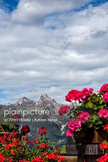 Blick auf die Alpen im Lechtal, Österreich, Bschlabs - p177m1183482 von Kirsten Nijhof