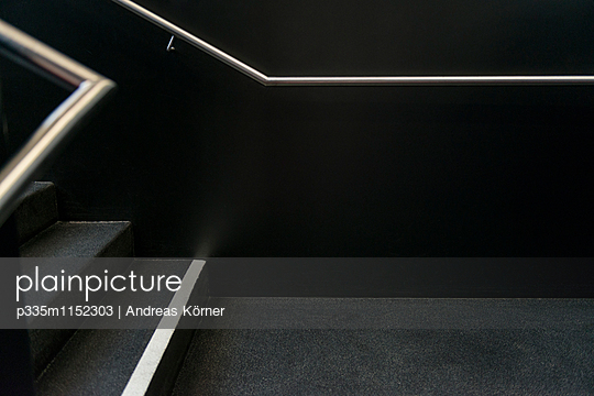 Staircase in black - p335m1152303 by Andreas Körner