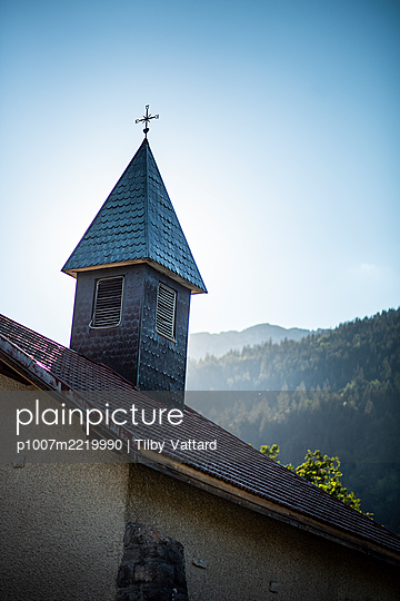 Bell tower of chapel in the countryside - p1007m2219990 by Tilby Vattard