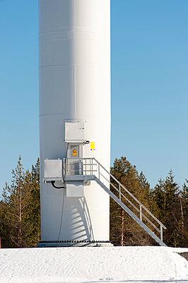Entrance of wind turbine  - p1079m1042396 by Ulrich Mertens
