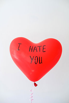 Balloon heart shaped with the inscription I hate you - p1363m2031421 by Valery Skurydin