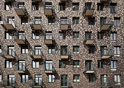 Brick-faced housing block - p390m1092846 by Frank Herfort