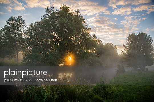 Sunrise in Constable Country - p1628m2195753 by Lorraine Fitch