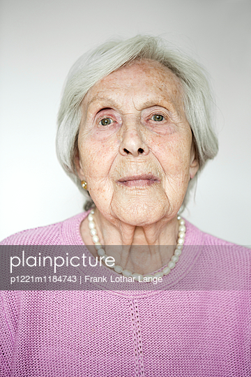 Portrait of an old woman - p1221m1184743 by Frank Lothar Lange