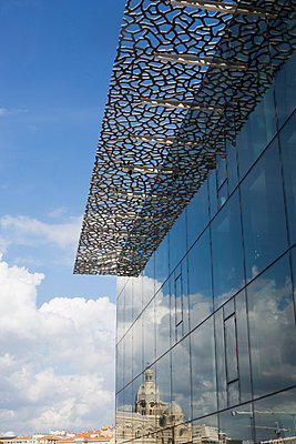 Mucem Facade and Church - p445m1153179 by Marie Docher