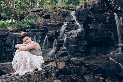 By the waterfall - p1507m2092594 by Emma Grann
