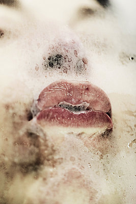 Woman's mouth - p445m1528758 by Marie Docher