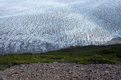 Glacier in Argentina - p5960040 by Ariane Galateau