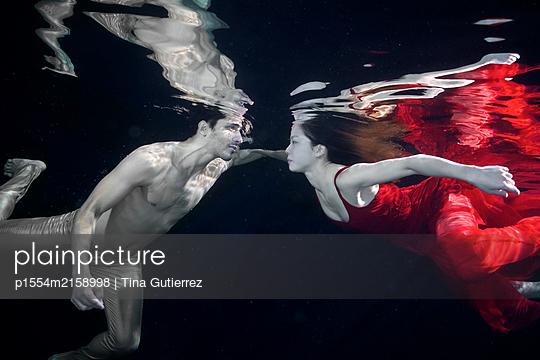 Underwater dancer - p1554m2158998 by Tina Gutierrez
