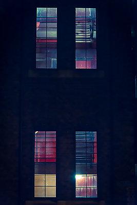 Illuminated windows at night - p1170m2142953 by Bjanka Kadic