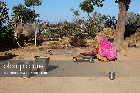 Washing the dishes in India
