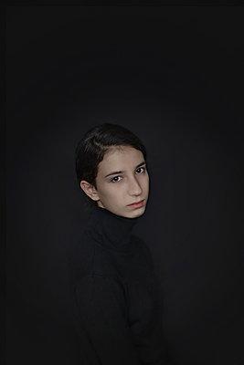 Girl in black - p1432m2257860 by Svetlana Bekyarova