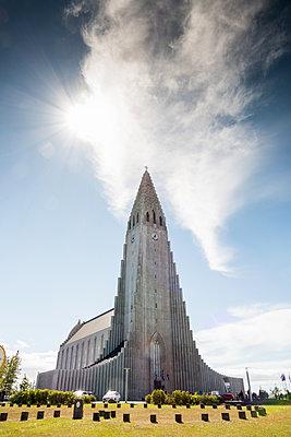 Reykjavik, Hallgrímskirkja - p741m2108938 von Christof Mattes