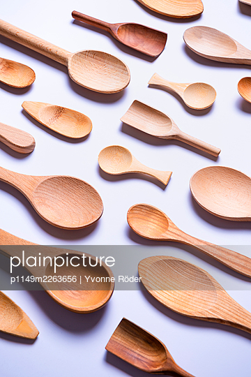Wooden spoons - p1149m2263656 by Yvonne Röder