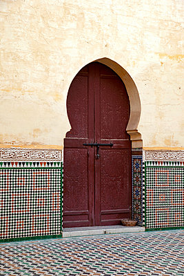 Door in Meknes - p382m1119739 by Anna Matzen