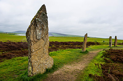 The stone circle, Ring of Brodgar, UNESCO World Heritage Site, Orkney Islands, Scotland, United Kingdom, Europe - p871m1506370 by Michael Runkel