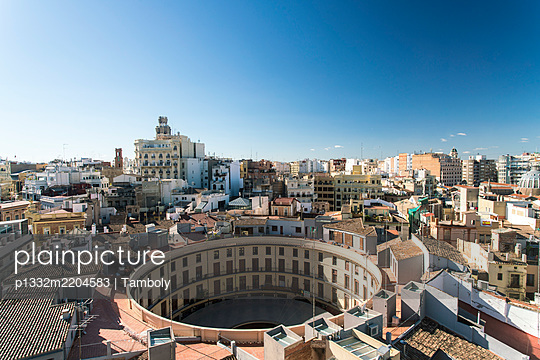 Spain, Valencia, View of the city with Plaça Redona - p1332m2204583 by Tamboly