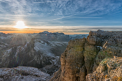 Italy, Veneto, Dolomites from Lagazuoi, Fanes-Sennes-Prags Nature Park - p300m1535565 by Lorenzo Mattei