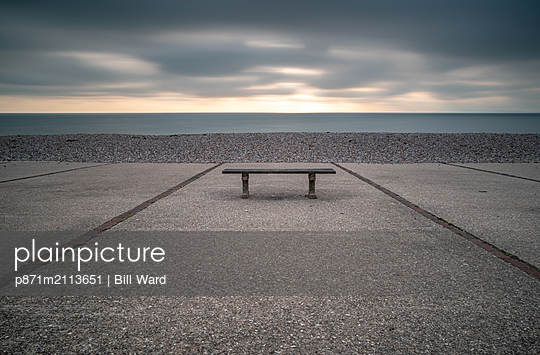 Bench, East Wittering, Sussex, England, United Kingdom - p871m2113651 by Bill Ward
