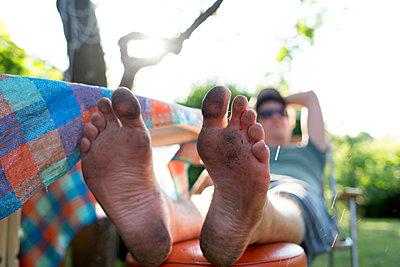 Dirty bottom of feet - p1308m2126743 by felice douglas
