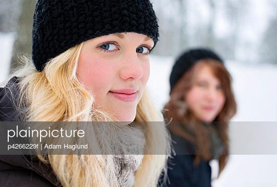 Winter dressed girls
