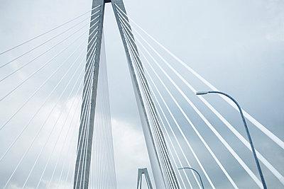 Cooper River Bridge, Detail, Low Angle View, Charleston, South Carolina, USA - p694m663765 by Maria K