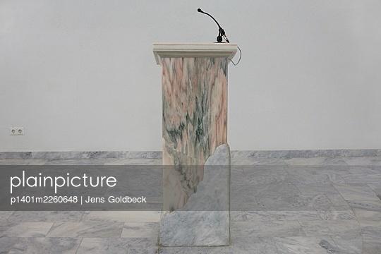 Marble lectern - p1401m2260648 by Jens Goldbeck